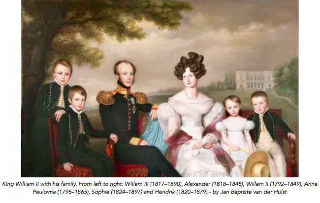 King Willem II and his family